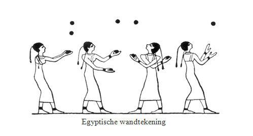 Egyptische vrouwen jongleerworkshop