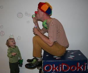 Clown OkiDoki bellenblaas